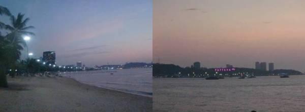 Suasana tenang di Pantai Pattaya
